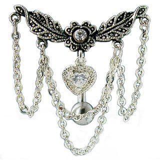 Clear Crystal Chandelier Reverse Belly Bar Holyskinz Http Www Amazon Co Uk Dp B005jj14l6 Ref Cm Sw R Pi Dp Fueltb0fj Navel Jewelry Belly Jewelry Body Jewelry