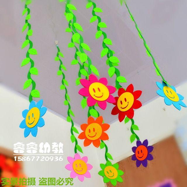 Colgar Flores Estarcido Pinterest Aula De Preescolar