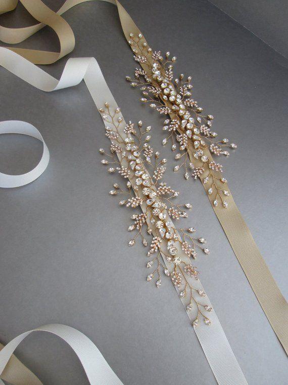 Photo of Wedding belt, Bridal crystal belt, Swarovski bridal belt in …