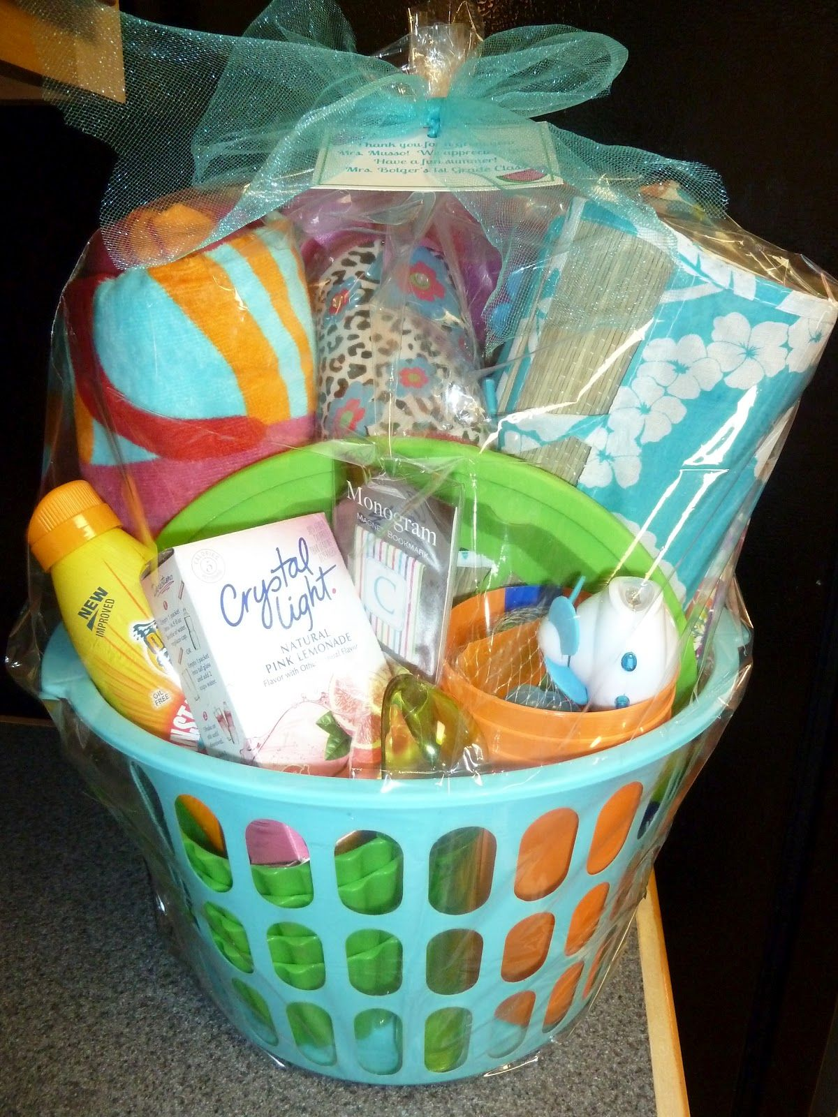 Room mom extraordinaire summer basket gift ideas pinterest easter baskets negle Images