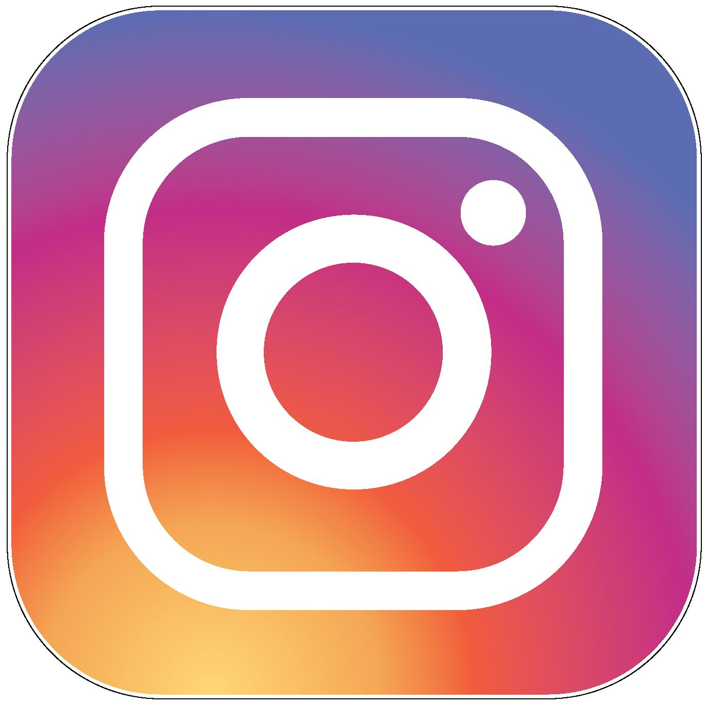 New instagram logo vinyl sticker printed vinyl decal social media vinyl stickers get your instagram vinyl decal for 2