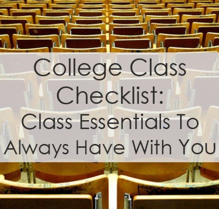 College Class Checklist  College Dorm And Dorm Room