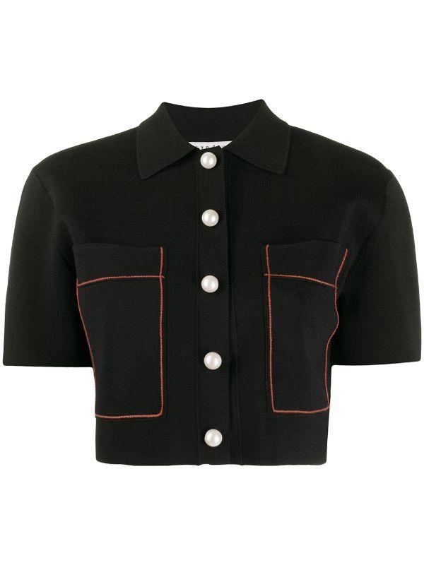 Sandro Paris Cropped Jacket Farfetch in 2020 | Crop jacket