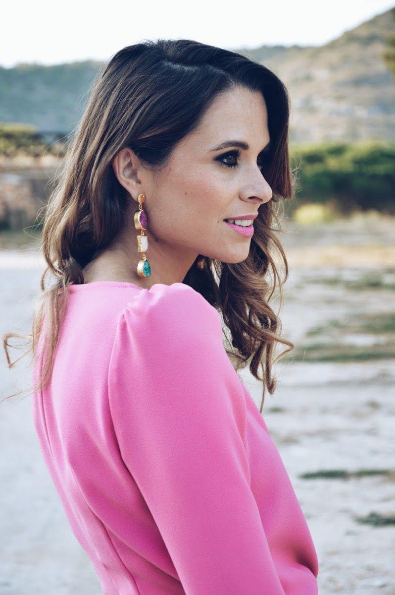 invitada #rosa #vestido #pendientes #casildafinat #wedding #bridal ...