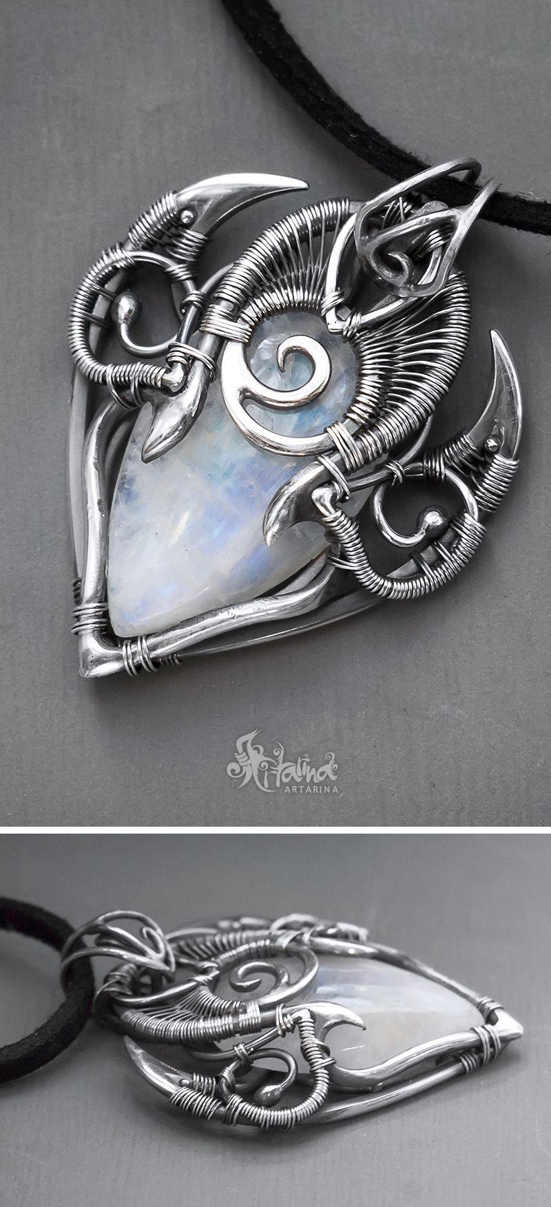 Moonstone Pendant Fantasy Pendant Fantasy Moonstone