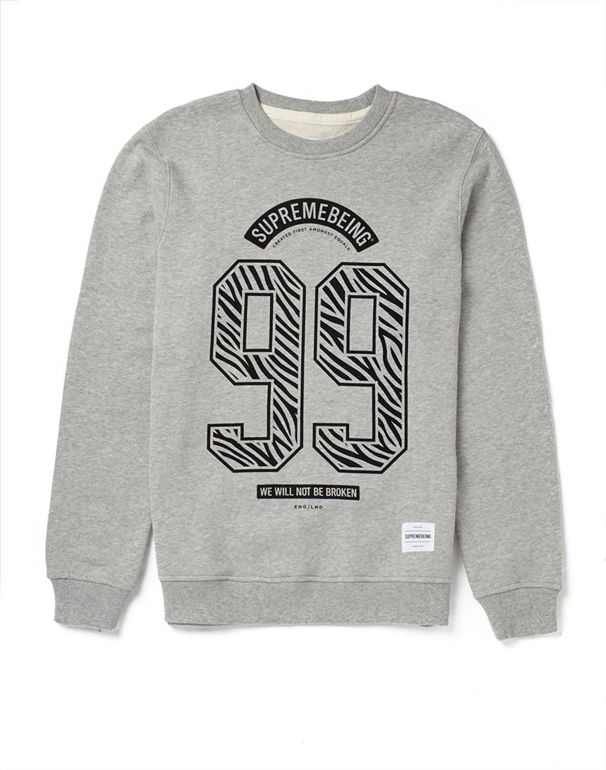 Supremebeing Sweatshirt with No. of the Beast Print