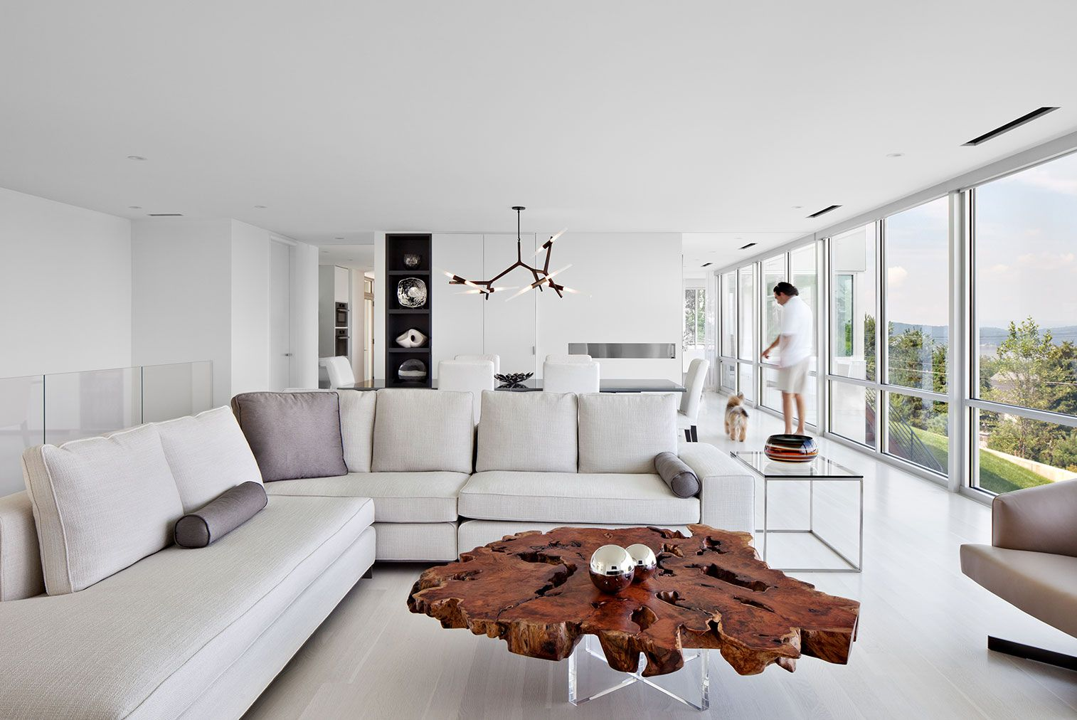 Agnes 10-bulb chandelier in bronzeArchitecture and Interior by ...