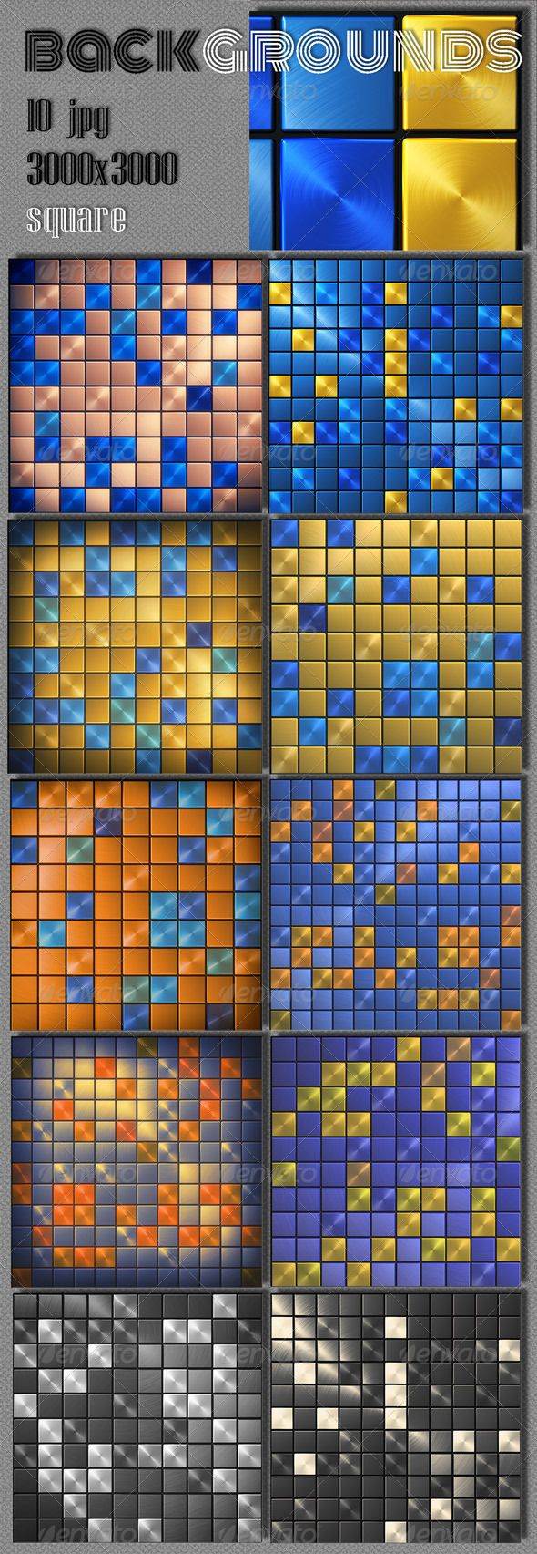Abstract Square Background Metal background, Abstract