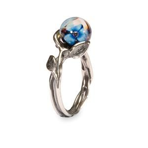 ANELLO CON FIORE BLU AUTHENTIC TROLLBEAD BLUE FLOWER RING