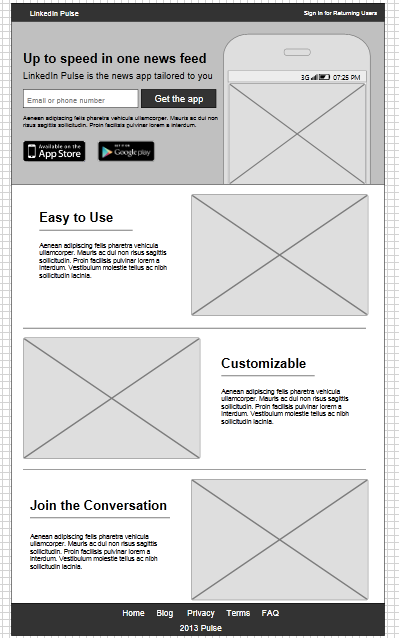 LinkedIn Pulse Landing Page. Import this template for free: http ...