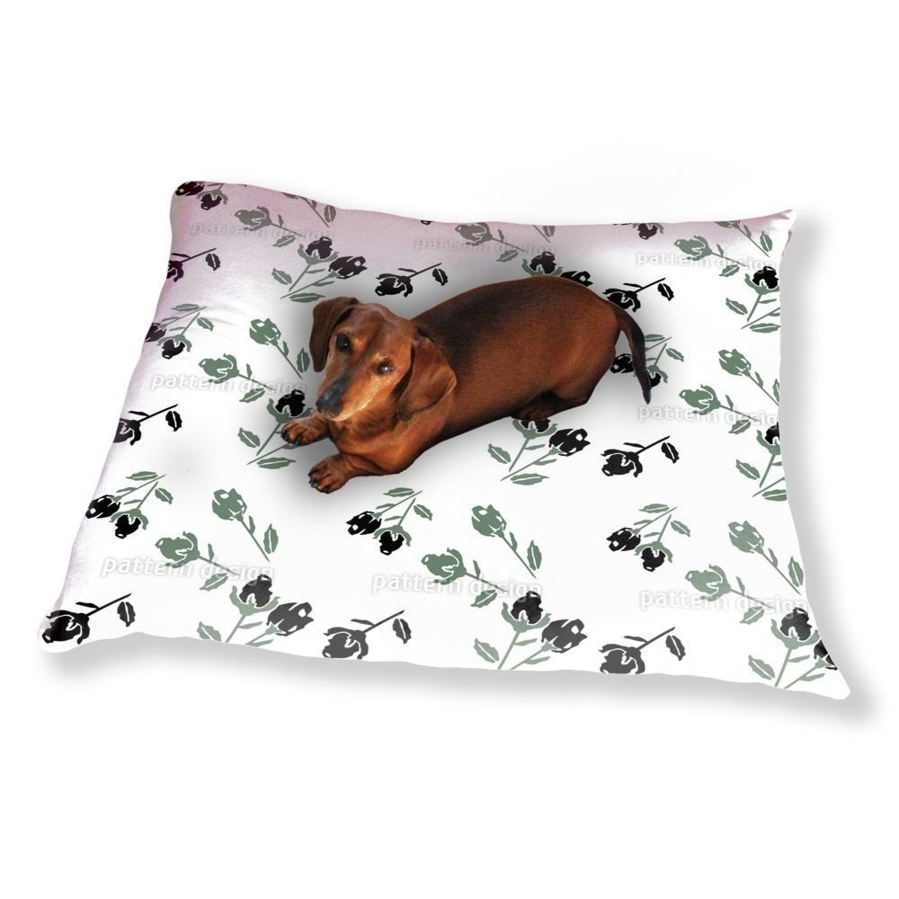 Uneekee Black Roses Dog Pillow Luxury Dog / Cat Pet Bed