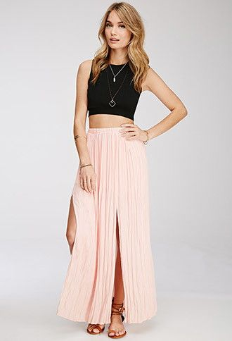 1ed7ea59738 There are 2 tips to buy this skirt  maxi crop tops pink blonde hair blonde  hair blackcroptop necklace necklace.
