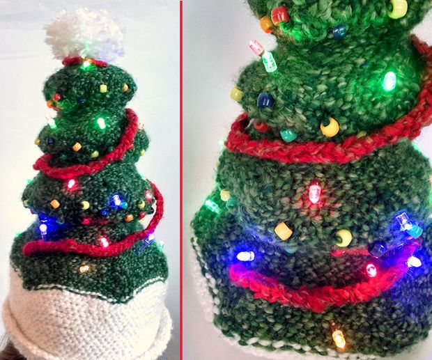 Picture of Light-Up Christmas Tree Hat - Light-Up Christmas Tree Hat Christmas Tree Hat, Christmas Tree And