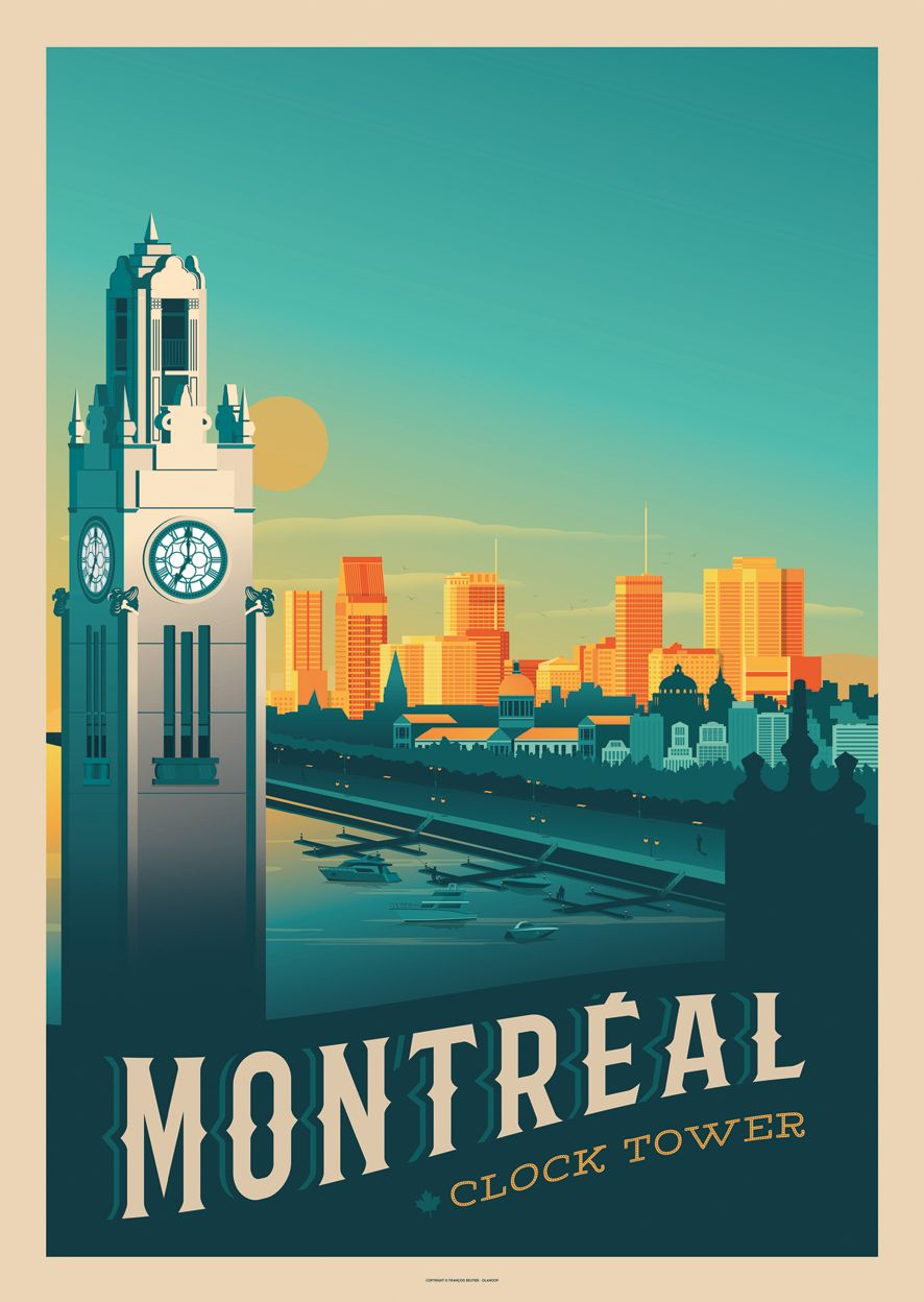 Montreal Vintage Travel Poster On Behance In 2019
