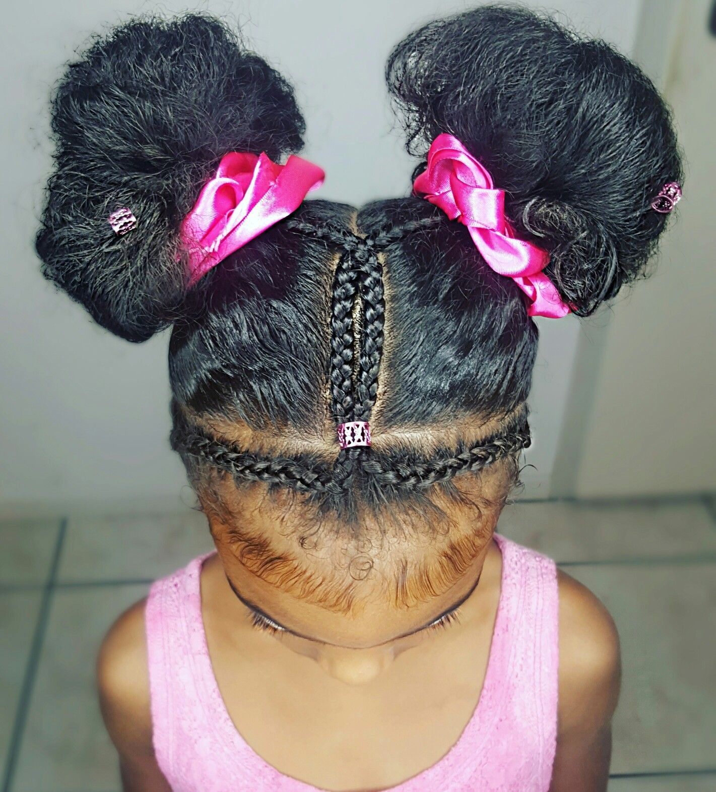 Cute buns natural hairstyles for kids blackhairstylesforkids