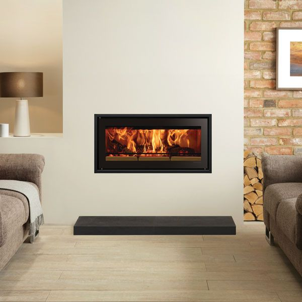Stovax Studio 2 Clean Air Urban Rural Inbuilt Wood Fire Turfrey Interior Design Lounge Interior Design Accents Wood Fireplace
