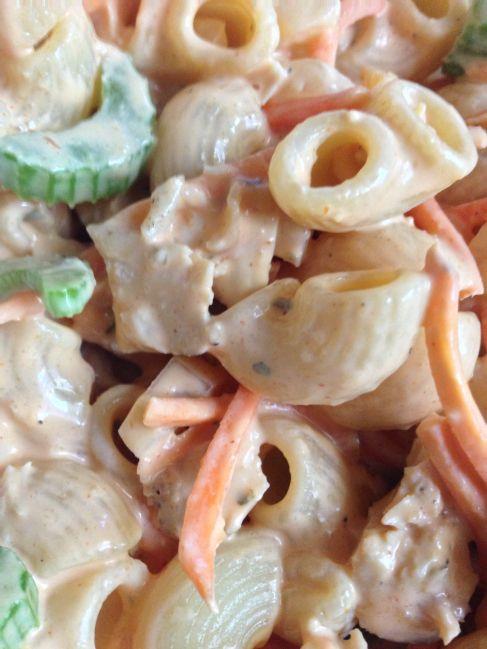 The Two Man Supper Club Week 24: Buffalo Chicken Pasta Salad #buffalochickenpastasalad