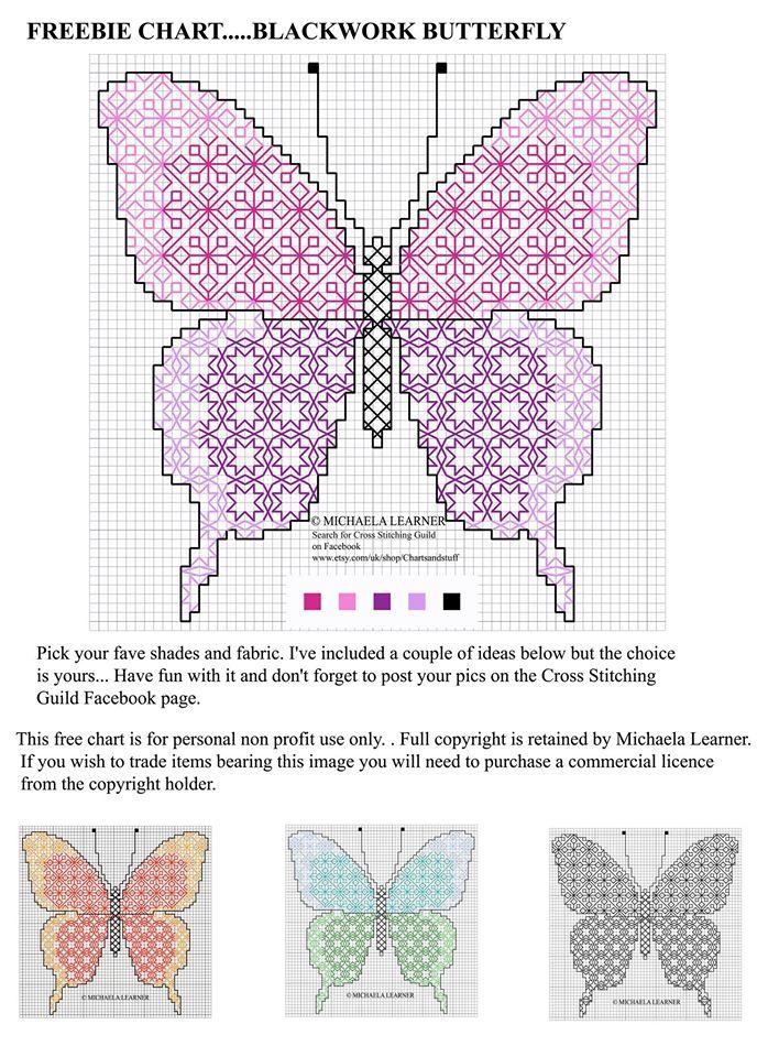 butterfly 1/1 | punto de cruz | Pinterest | Bordado, Punto and Punto ...