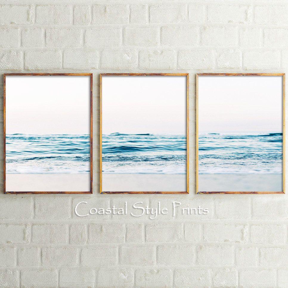 Ocean Waves Set Of 3 Prints Wall Art Print Set Australia Wall