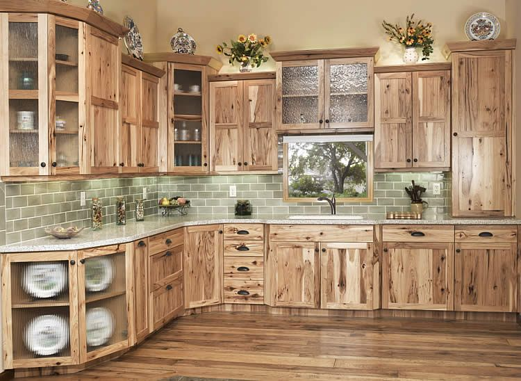 Rustic Kitchen Cabinets hickory cabinets rustic kitchen design ideas wood flooring pendant