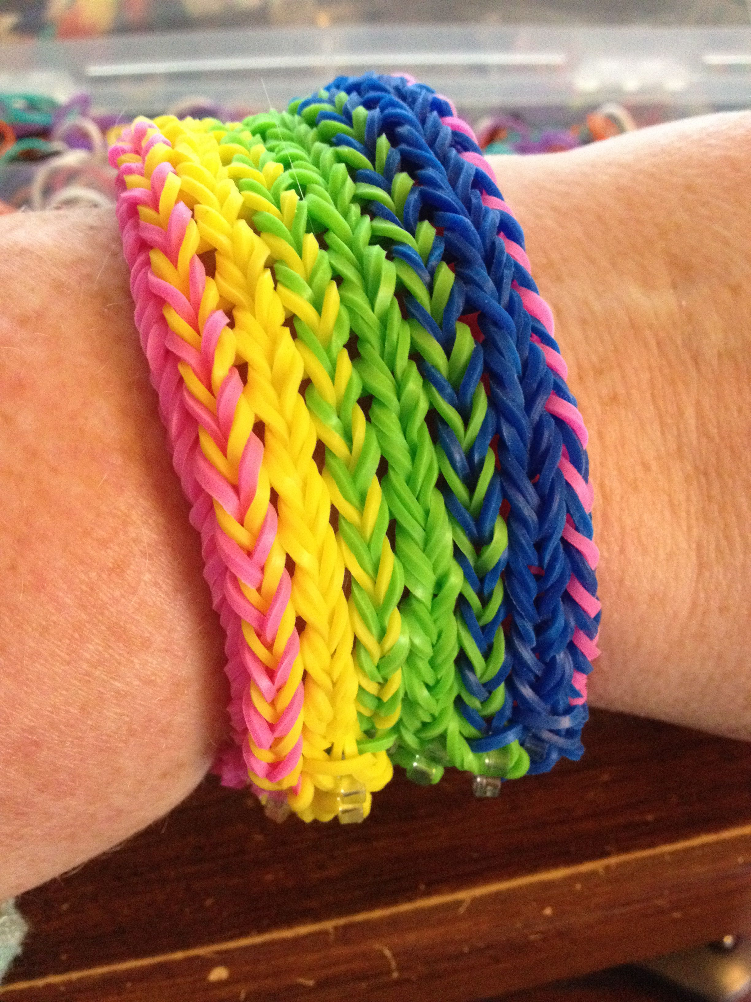 rainbow loom diamond bracelet instructions