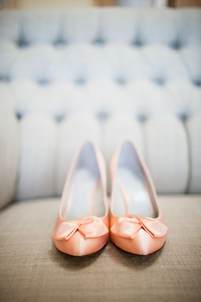 peach colored shoes
