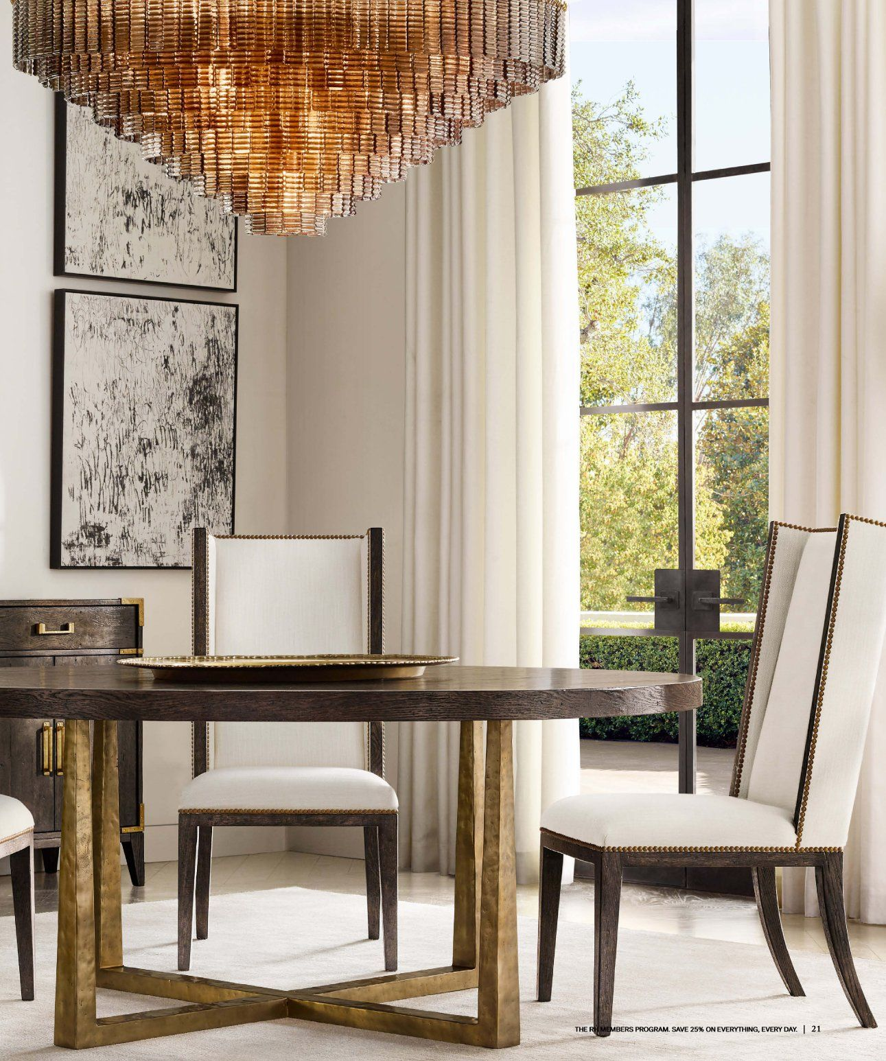 RH Source Books RH Interiors 21 | Round dining table, Round dining