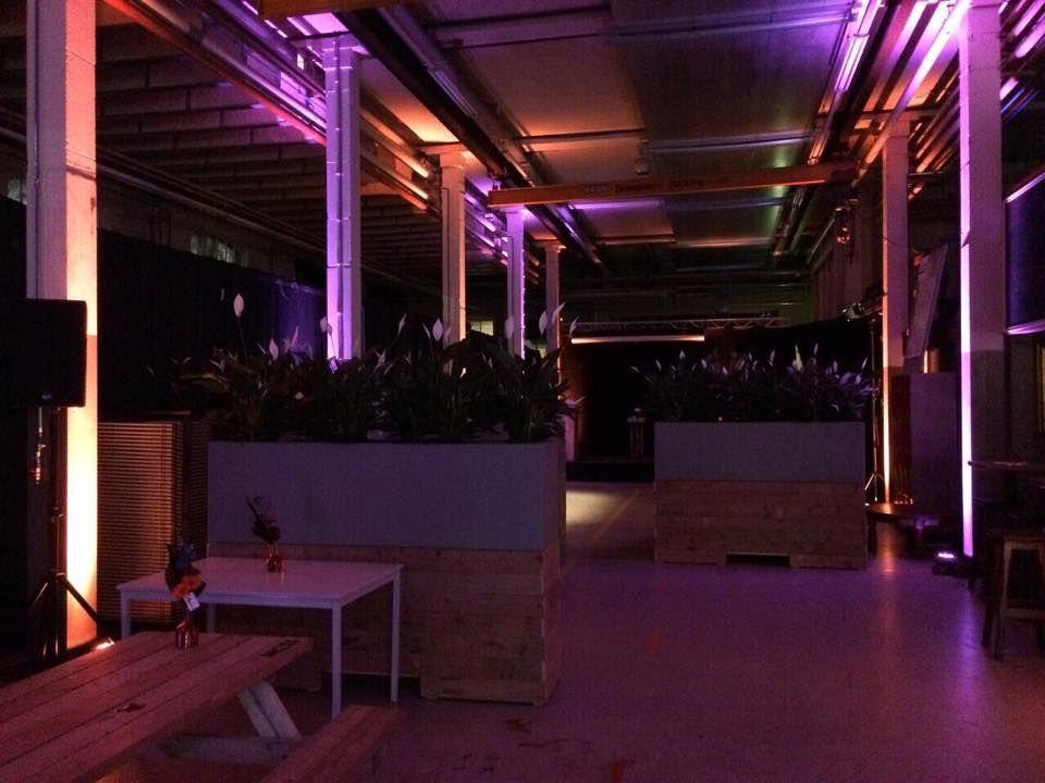 Uitverlichting evenementenhal met Showtec Tri Par 7x3W