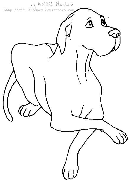 Lineart Great Dane By Anbu Flashez On Deviantart Dog Line Drawing Dog Outline Animal Doodles