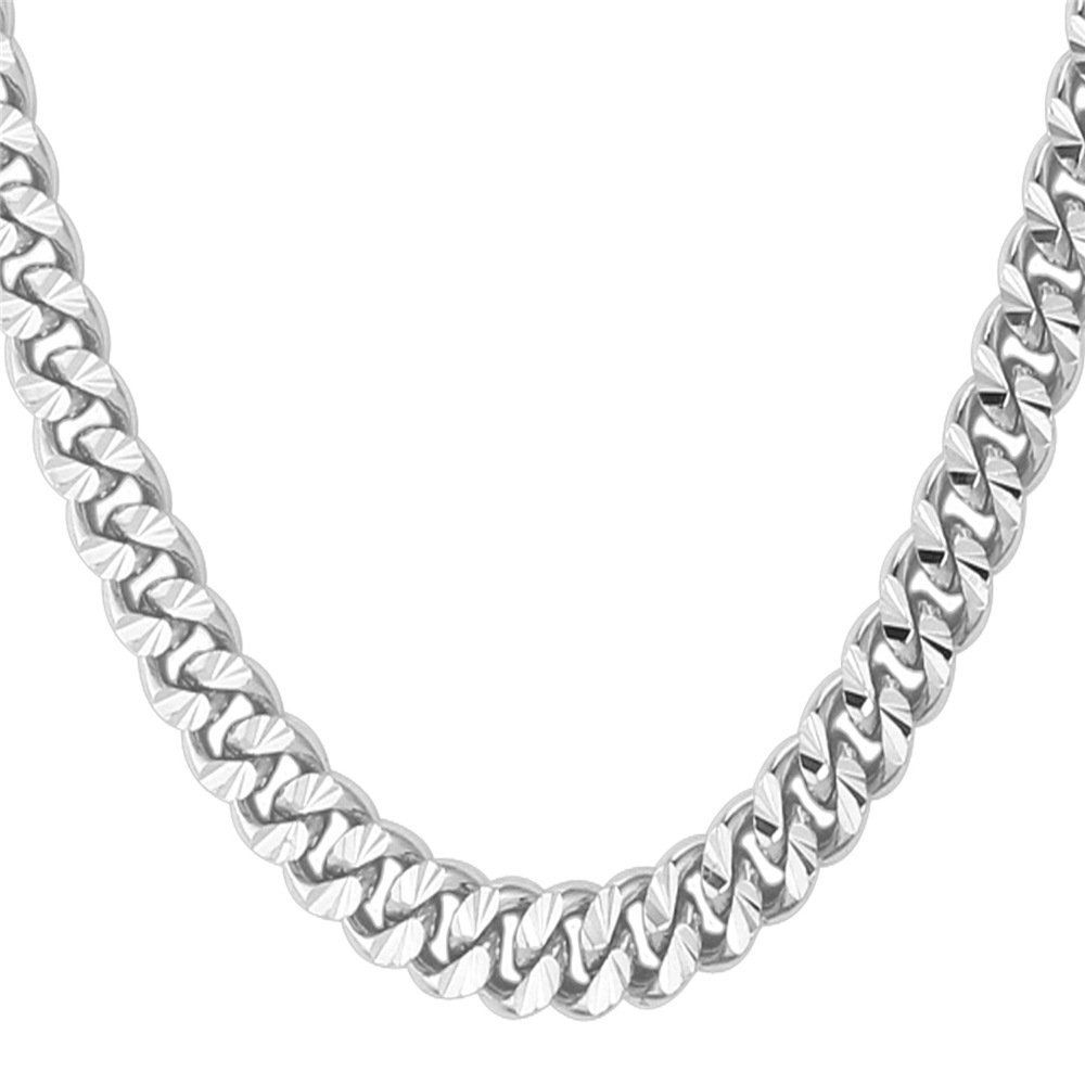 square sterling bling link jewelry chain big mens chains necklace unisex fancy silver