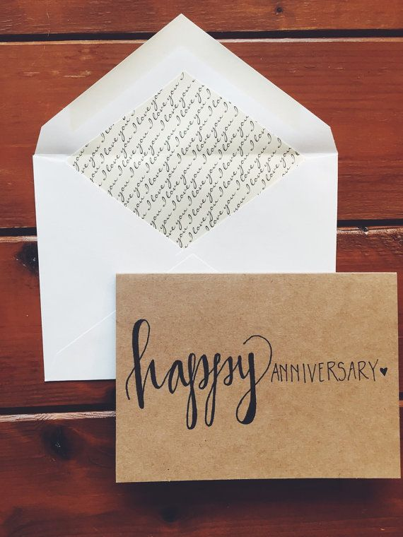 I Love The Hand Lettering In This Anniversary Card Perfect Idea For My Husband Hand Lettering Cards Happy Anniversary Cards Hand Lettering