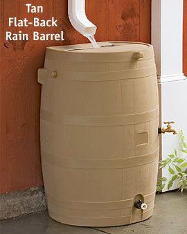 Flat Back Rain Barrel Rain Barrel Smart Home Design Water Barrel