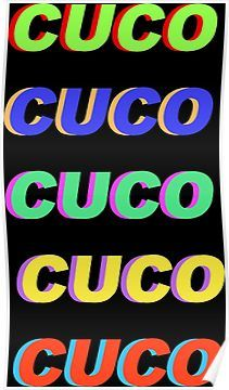 'Cuco Name Art' Poster by carolyn-castro #cucowallpaper