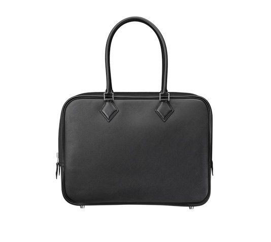03690c087e38 ... best plume hermes bag in black swift calfskin measures 12.5 x 9 x 4.5  silver and ...