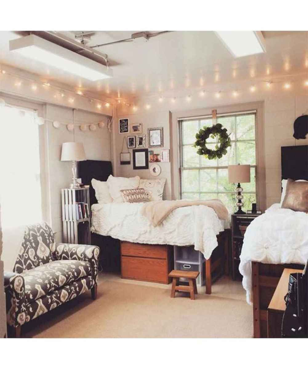 100+ cute loft beds college dorm room design ideas for girl ...