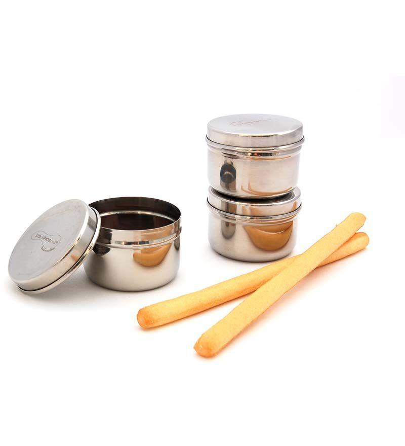 U Konserve Stainless Steel Mini Containers, Set of 3