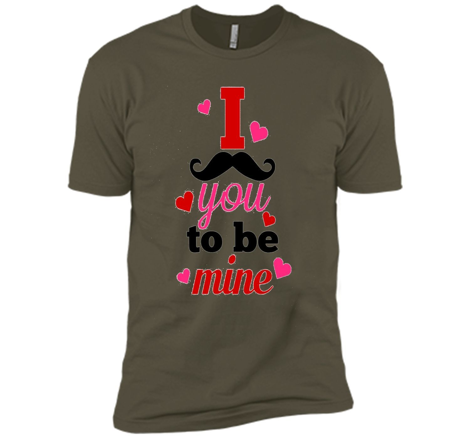 Funny Valentine Shirt - I Mustache You To Be Mine T-Shirt