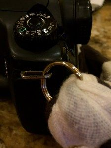 DIY scarf to camera strap project.  Simple tutorial for creating a soft and functional camera strap.