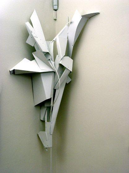 Via Grafik Art Installation Sculpture Kunstinstallation Konzept Architektur Karton Skulptur