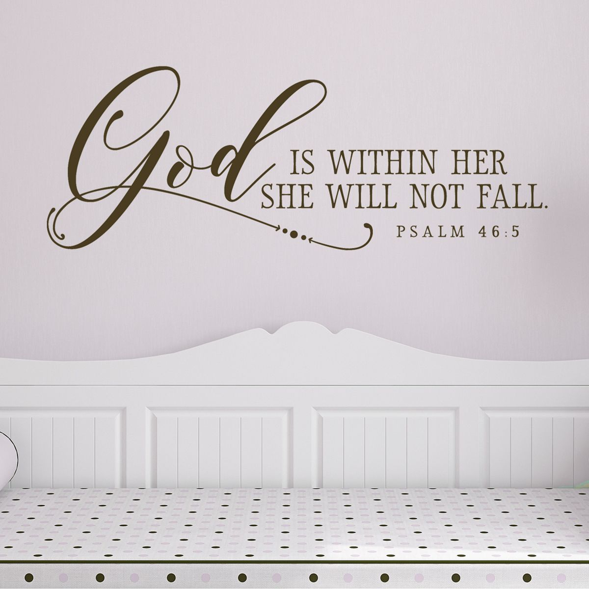 GOD IS WITHIN HER PSALM 46:5 Decor Wall Art Decal Quote Words Lettering