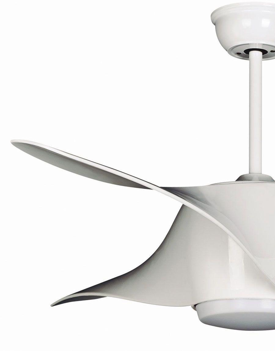 Ventilateur De Plafond Design 127 Cm Avec Lampe Led Telecommande Couleur Blanc Plafond Design Ventilateur Plafond Plafond