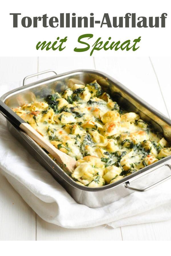Tortellini-Auflauf mit Spinat