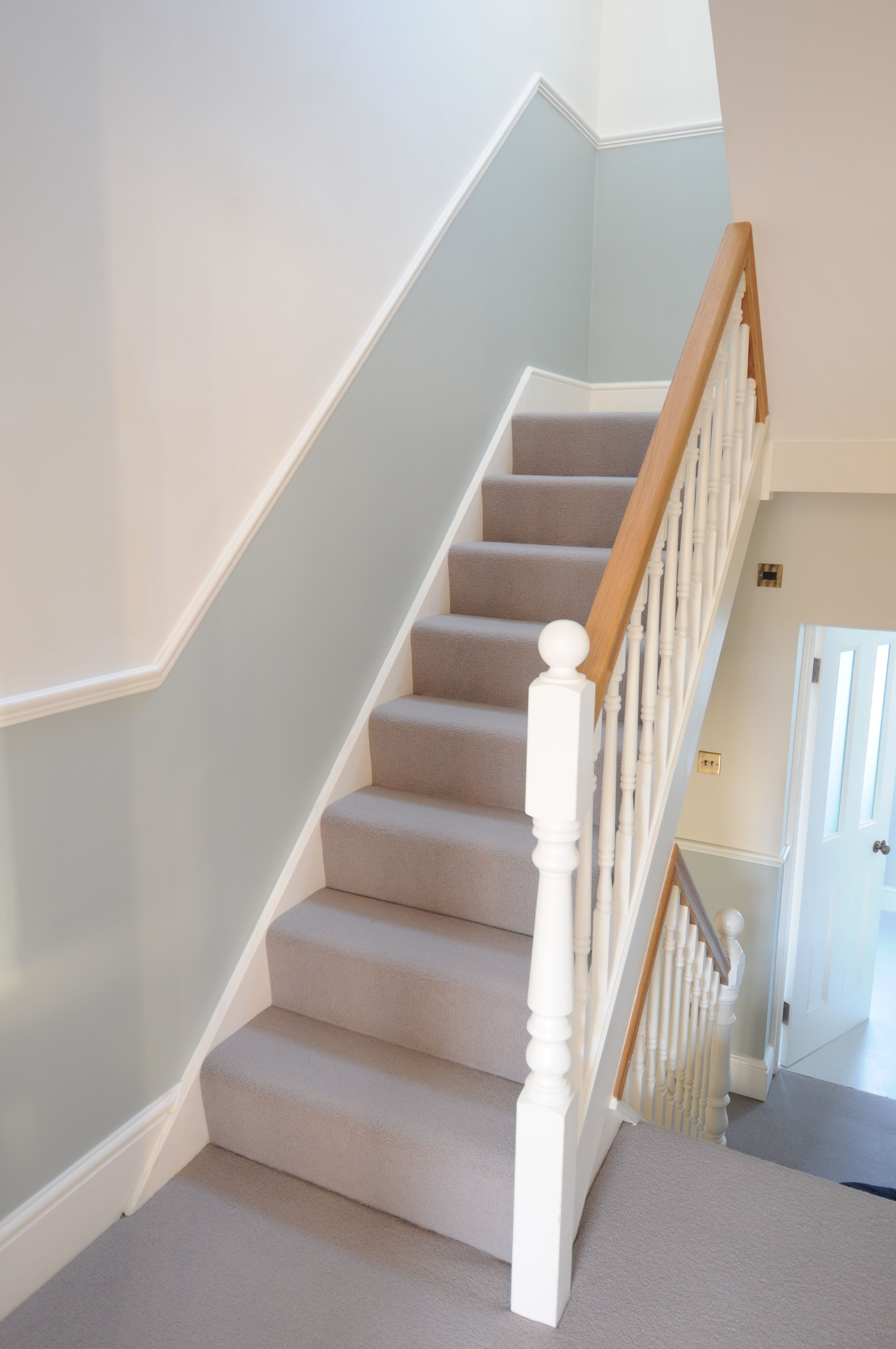 Dado rails and replaced handrails and spindles   Interior Railing   Hallway decorating ...
