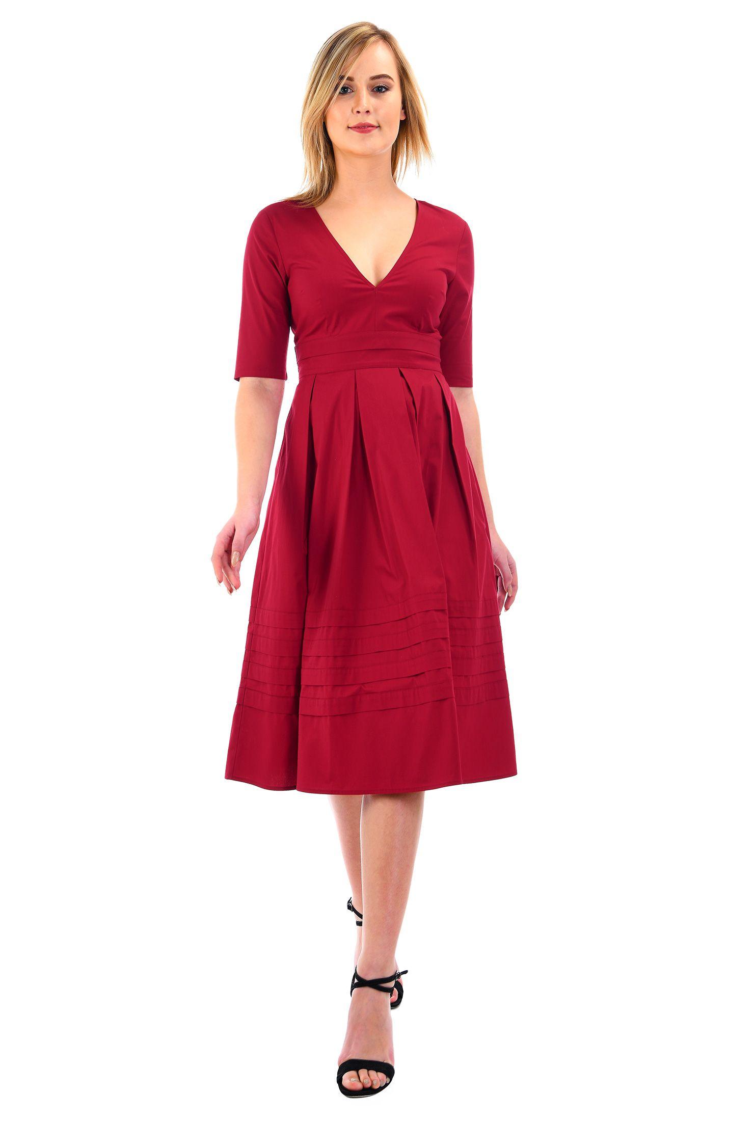 below knee length dresses cottonspandex Dresses daytoevening