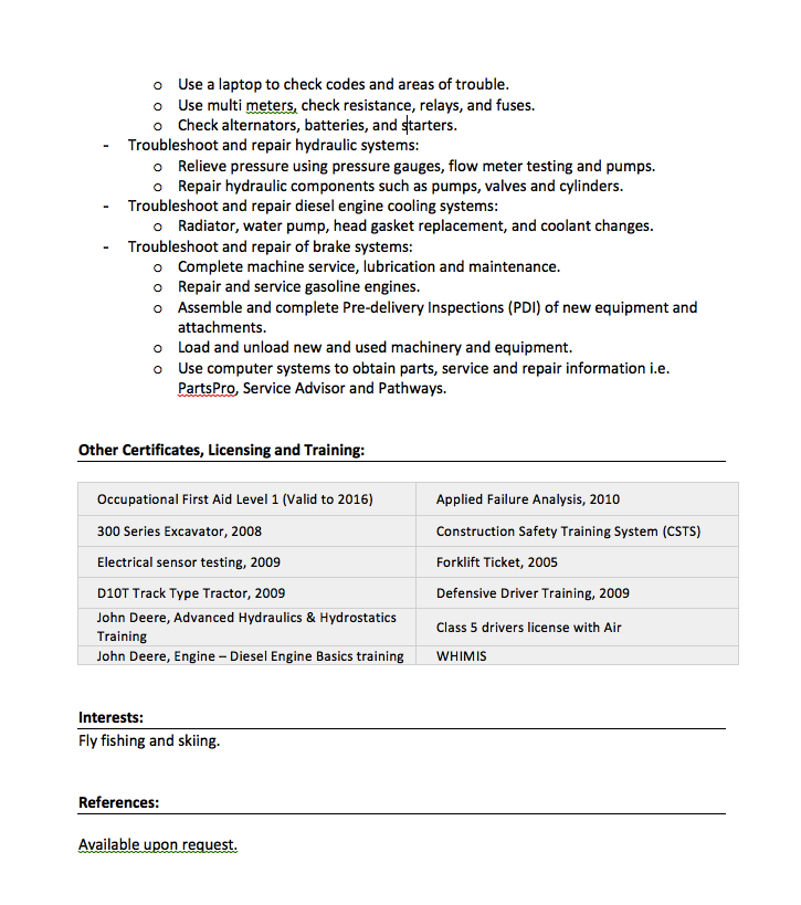 Heavy Duty Mechanic Resume Sample resumesdesignheavy – Heavy Equipment Mechanic Resume