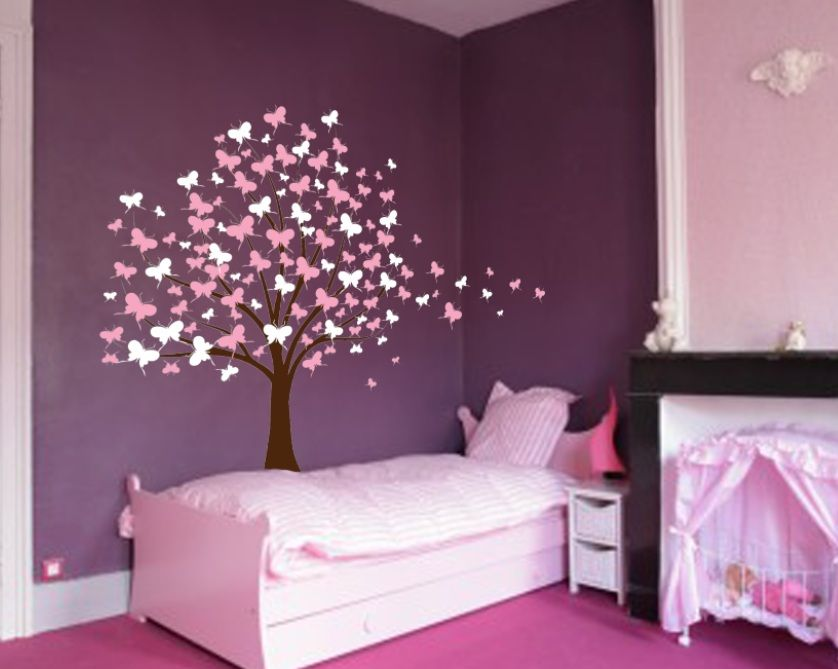 Large Wall Tree Baby Nursery Decal Butterfly Cherry Blossom #1139 Part 46