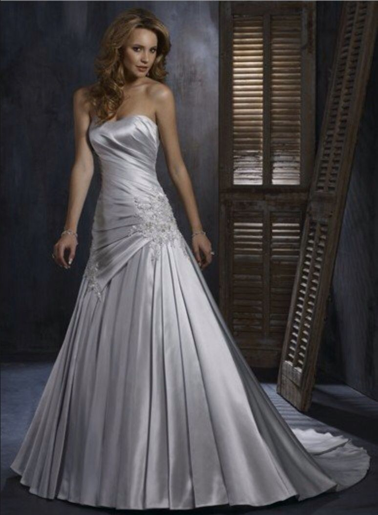 Cheap silver dresses for weddings  Dove grey wedding dress  Silver dress for silver wedding