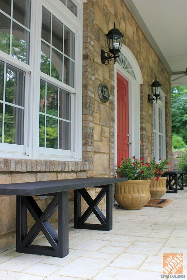 Cute And Simply DIY Bench For The Front Porch/stoop