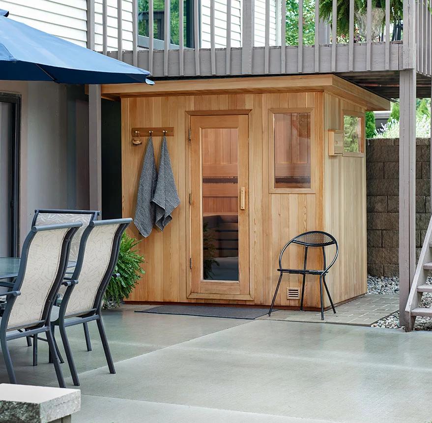 Outdoor Sauna Under Deck Google Search In 2020 Outdoor Sauna Sauna Design Outdoor Sauna Kits
