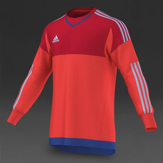 adidas Junior Onore 15 GK Jersey - Bright Red Scarlet Clear Sky Bold Blue  ad5c0d239